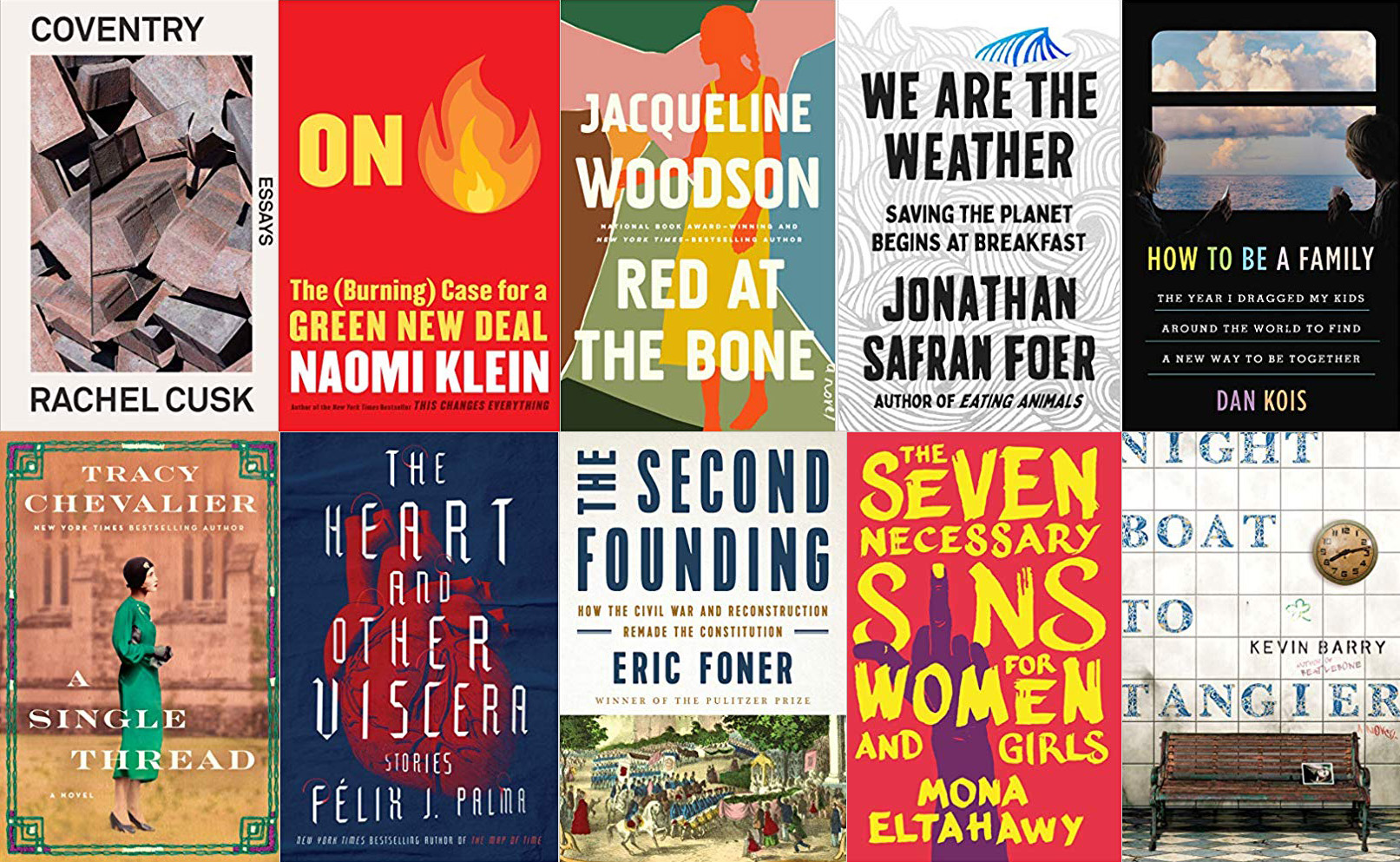 Tuesday New Release Day: Starring Cusk, Barry, Eltahawy, Foer, Klein, Kois, and More